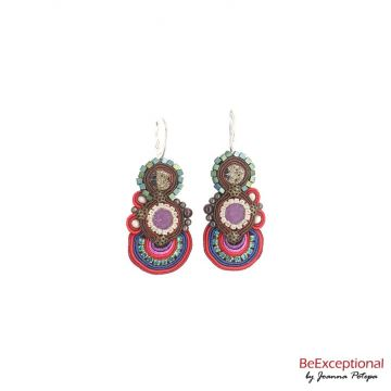 Hand embroidered earrings Andor M